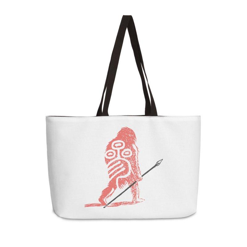 CRAIG THOMPSON UNCIV CAVEMAN LOGO Accessories Weekender Bag Bag by Uncivilized Books Merch Shop