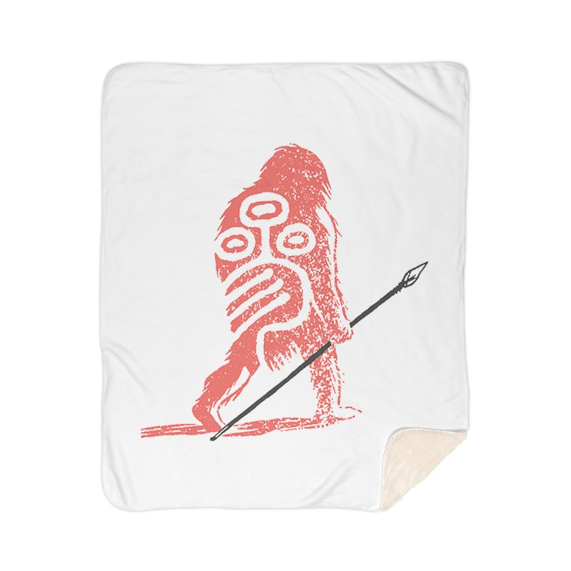 CRAIG THOMPSON UNCIV CAVEMAN LOGO Home Sherpa Blanket Blanket by Uncivilized Books Merch Shop