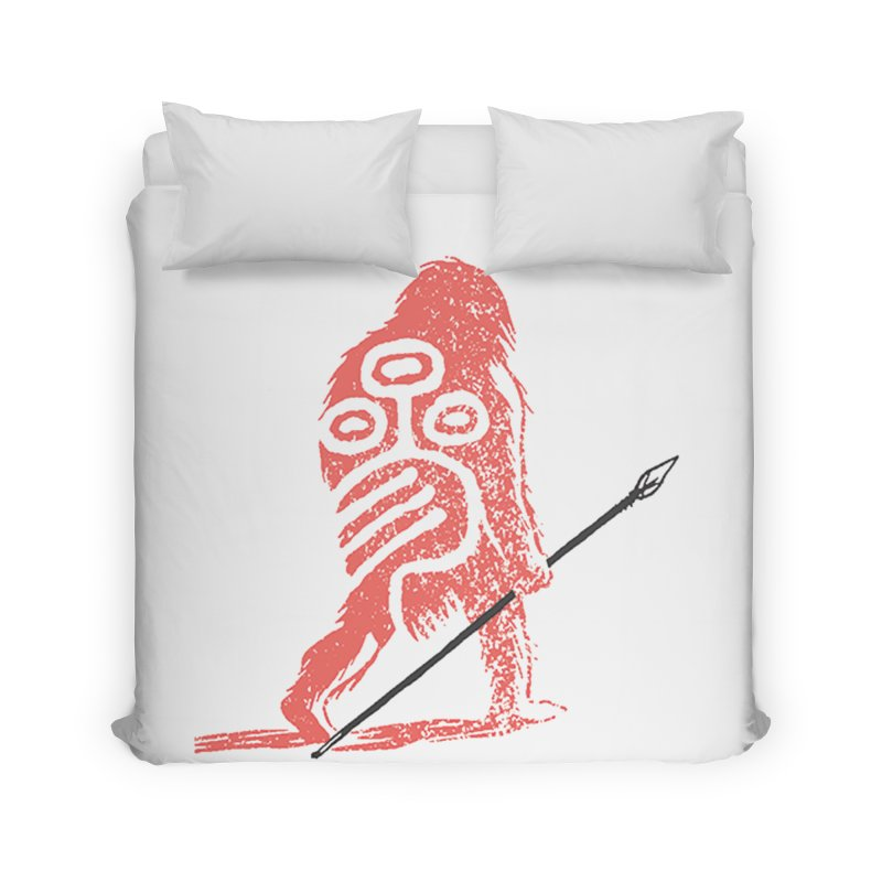 CRAIG THOMPSON UNCIV CAVEMAN LOGO Home Duvet by Uncivilized Books Merch Shop