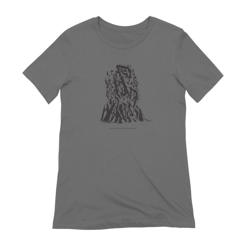THE TOMB OF JACK KIRBY (STRUCTURE SERIES, TOM KACZYNSKI blk) Women's Extra Soft T-Shirt by Uncivilized Books Merch Shop