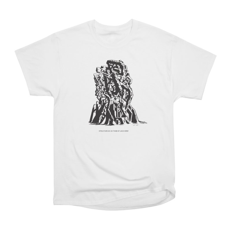 THE TOMB OF JACK KIRBY (STRUCTURE SERIES, TOM KACZYNSKI blk) Men's T-Shirt by Uncivilized Books Merch Shop
