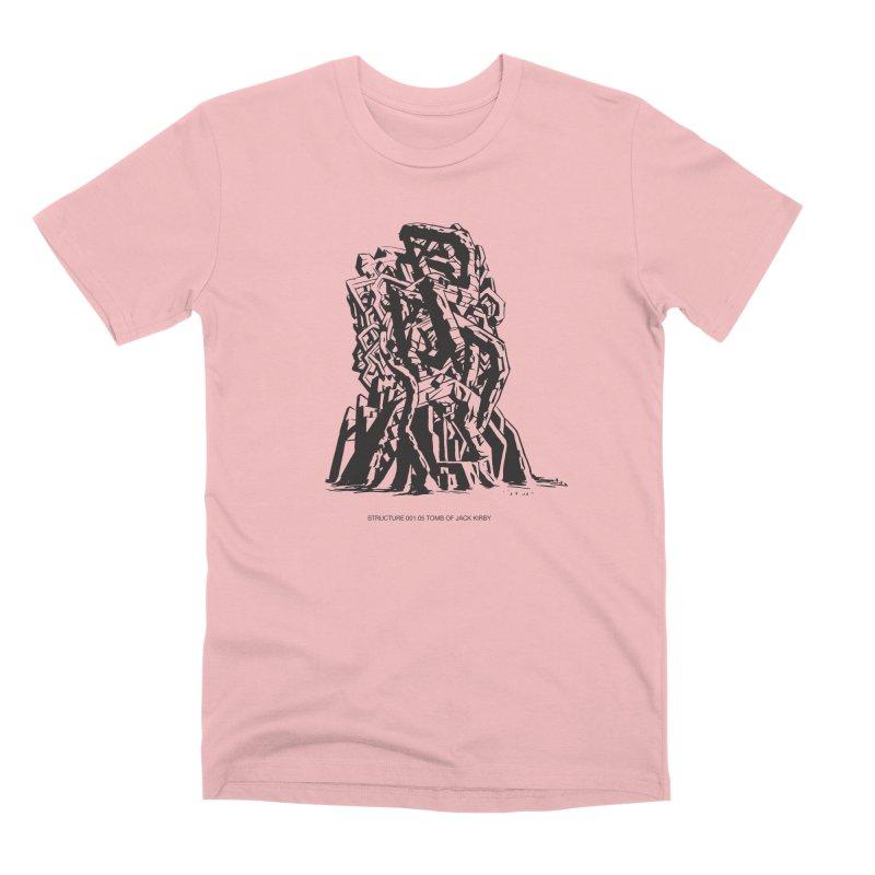 THE TOMB OF JACK KIRBY (STRUCTURE SERIES, TOM KACZYNSKI blk) Men's Premium T-Shirt by Uncivilized Books Merch Shop