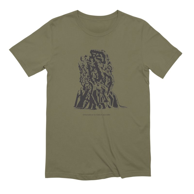 THE TOMB OF JACK KIRBY (STRUCTURE SERIES, TOM KACZYNSKI blk) Men's Extra Soft T-Shirt by Uncivilized Books Merch Shop