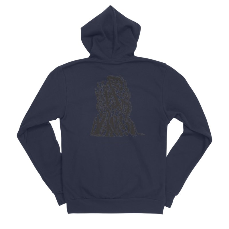 THE TOMB OF JACK KIRBY (STRUCTURE SERIES, TOM KACZYNSKI blk) Women's Sponge Fleece Zip-Up Hoody by Uncivilized Books Merch Shop