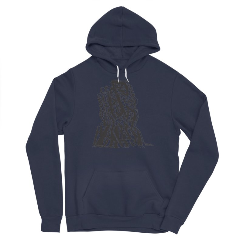 THE TOMB OF JACK KIRBY (STRUCTURE SERIES, TOM KACZYNSKI blk) Men's Sponge Fleece Pullover Hoody by Uncivilized Books Merch Shop