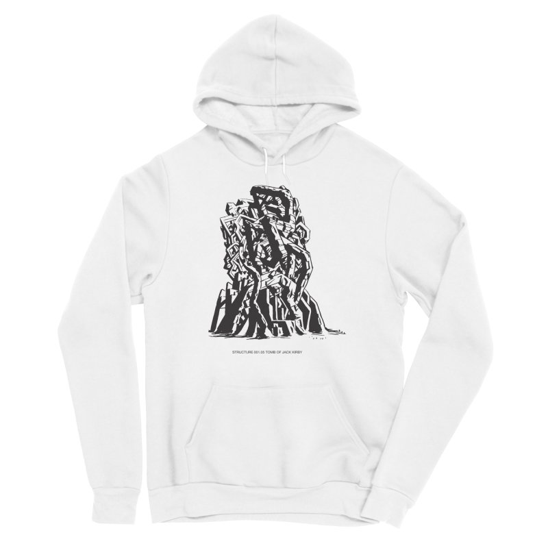 THE TOMB OF JACK KIRBY (STRUCTURE SERIES, TOM KACZYNSKI blk) Women's Sponge Fleece Pullover Hoody by Uncivilized Books Merch Shop