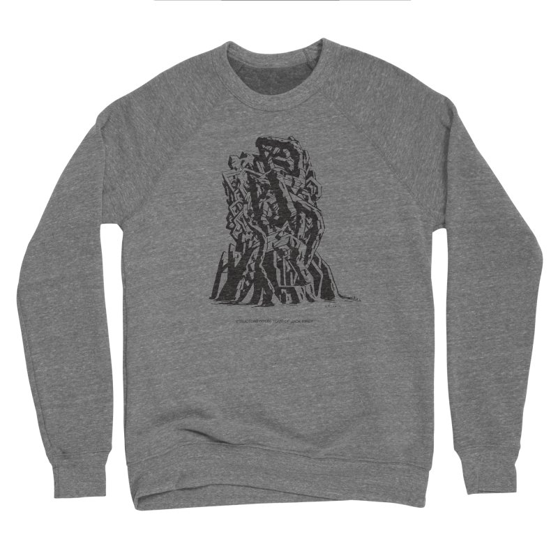 THE TOMB OF JACK KIRBY (STRUCTURE SERIES, TOM KACZYNSKI blk) Women's Sponge Fleece Sweatshirt by Uncivilized Books Merch Shop