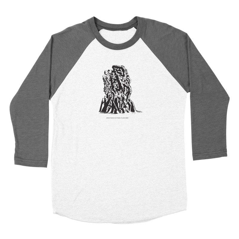 THE TOMB OF JACK KIRBY (STRUCTURE SERIES, TOM KACZYNSKI blk) Women's Longsleeve T-Shirt by Uncivilized Books Merch Shop