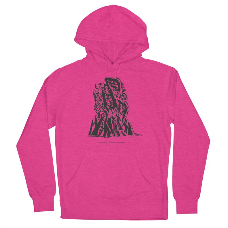 THE TOMB OF JACK KIRBY (STRUCTURE SERIES, TOM KACZYNSKI blk) Women's French Terry Pullover Hoody by Uncivilized Books Merch Shop