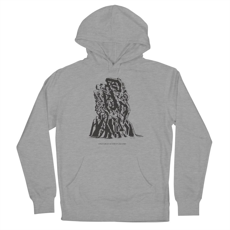 THE TOMB OF JACK KIRBY (STRUCTURE SERIES, TOM KACZYNSKI blk) Men's French Terry Pullover Hoody by Uncivilized Books Merch Shop