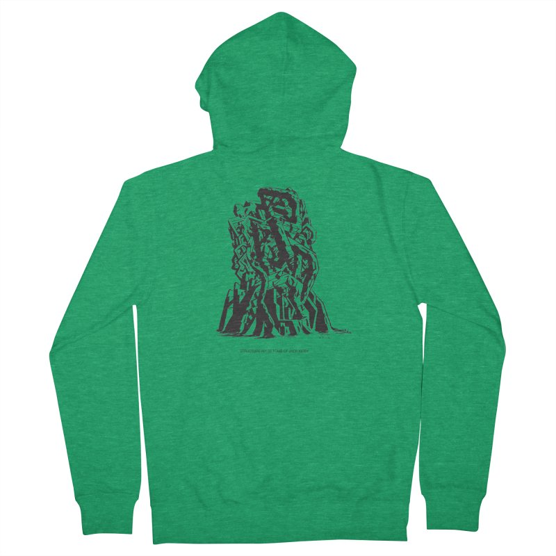 THE TOMB OF JACK KIRBY (STRUCTURE SERIES, TOM KACZYNSKI blk) Men's Zip-Up Hoody by Uncivilized Books Merch Shop