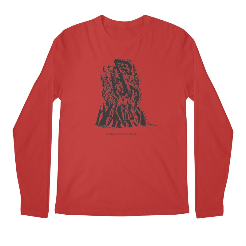 THE TOMB OF JACK KIRBY (STRUCTURE SERIES, TOM KACZYNSKI blk) Men's Longsleeve T-Shirt by Uncivilized Books Merch Shop