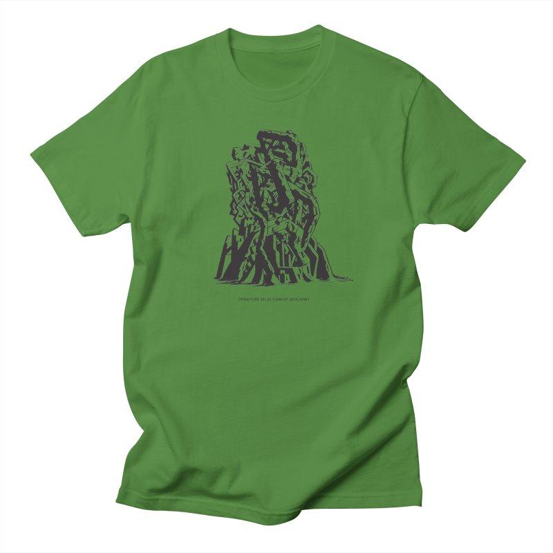 THE TOMB OF JACK KIRBY (STRUCTURE SERIES, TOM KACZYNSKI blk) Women's Regular Unisex T-Shirt by Uncivilized Books Merch Shop
