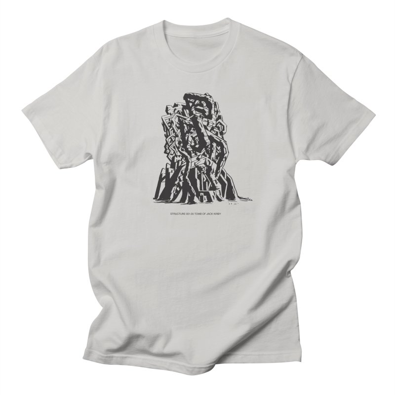 THE TOMB OF JACK KIRBY (STRUCTURE SERIES, TOM KACZYNSKI blk) Men's Regular T-Shirt by Uncivilized Books Merch Shop
