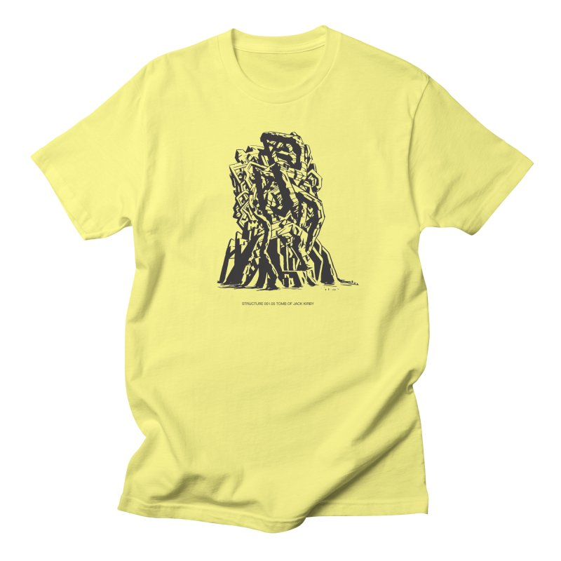 THE TOMB OF JACK KIRBY (STRUCTURE SERIES, TOM KACZYNSKI blk) Women's Regular Unisex T-Shirt by Uncivilized Books Merch Shop