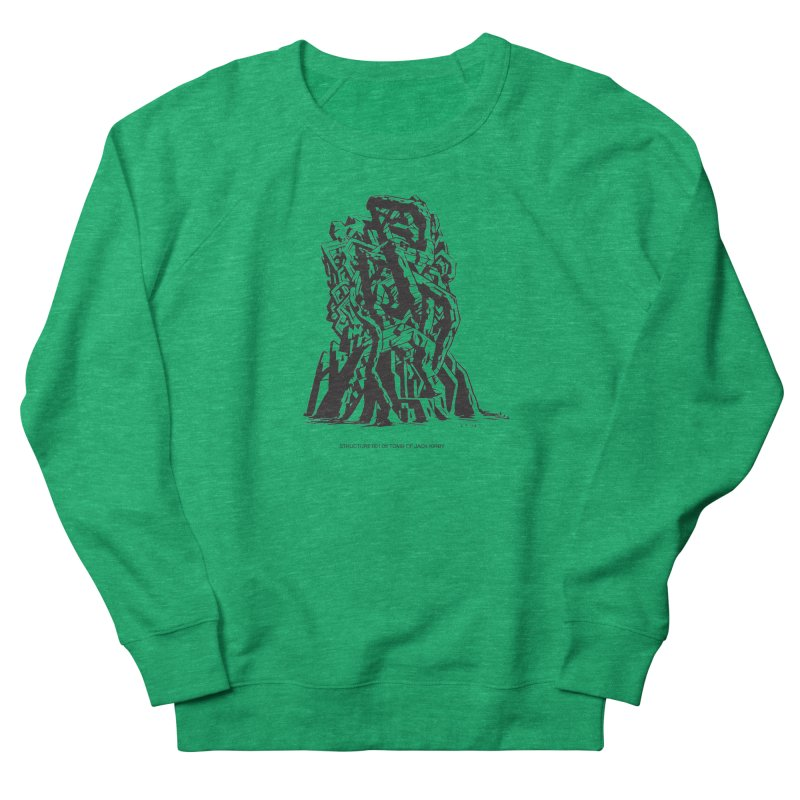 THE TOMB OF JACK KIRBY (STRUCTURE SERIES, TOM KACZYNSKI blk) Women's French Terry Sweatshirt by Uncivilized Books Merch Shop