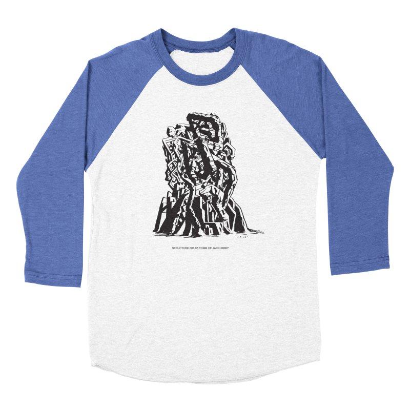 THE TOMB OF JACK KIRBY (STRUCTURE SERIES, TOM KACZYNSKI blk) Women's Baseball Triblend Longsleeve T-Shirt by Uncivilized Books Merch Shop