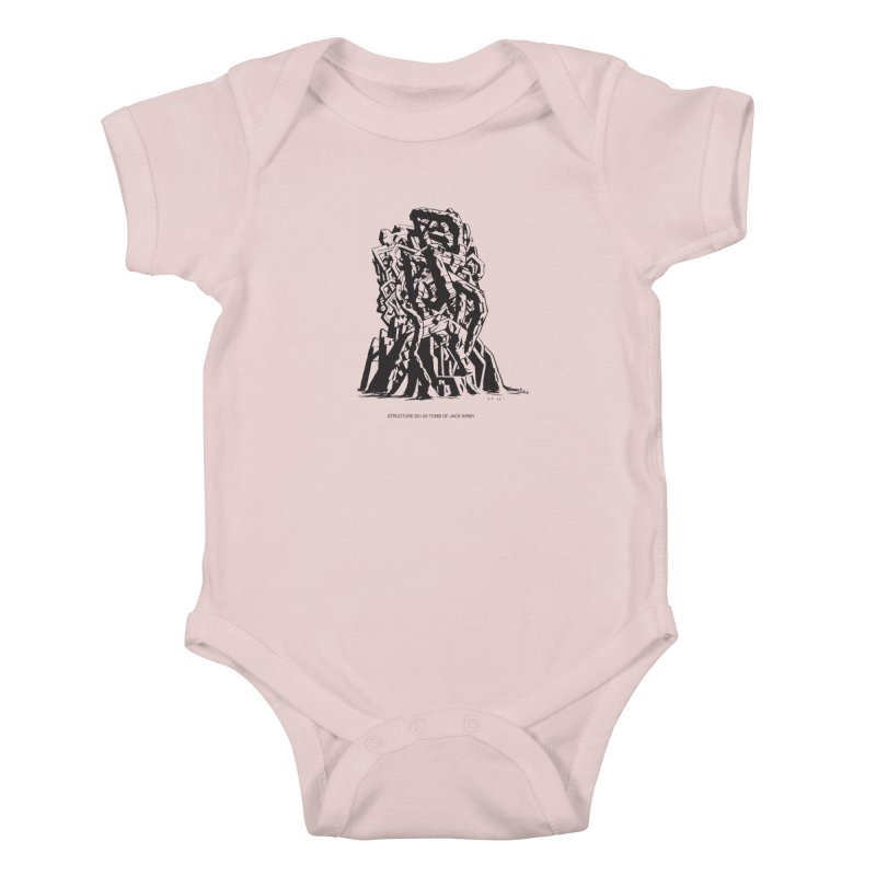 THE TOMB OF JACK KIRBY (STRUCTURE SERIES, TOM KACZYNSKI blk) Kids Baby Bodysuit by Uncivilized Books Merch Shop