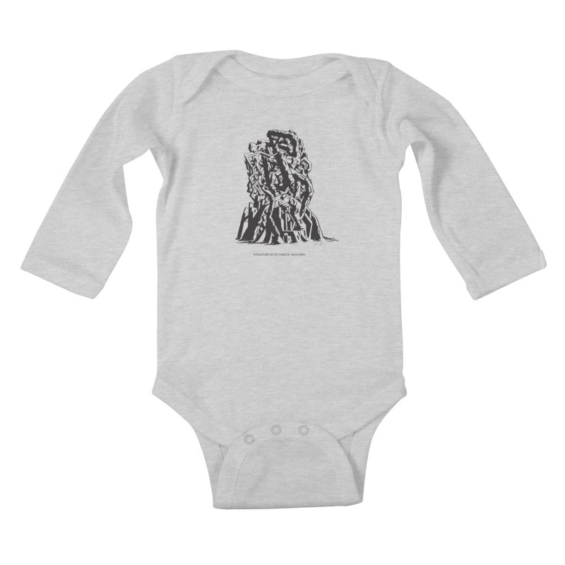 THE TOMB OF JACK KIRBY (STRUCTURE SERIES, TOM KACZYNSKI blk) Kids Baby Longsleeve Bodysuit by Uncivilized Books Merch Shop