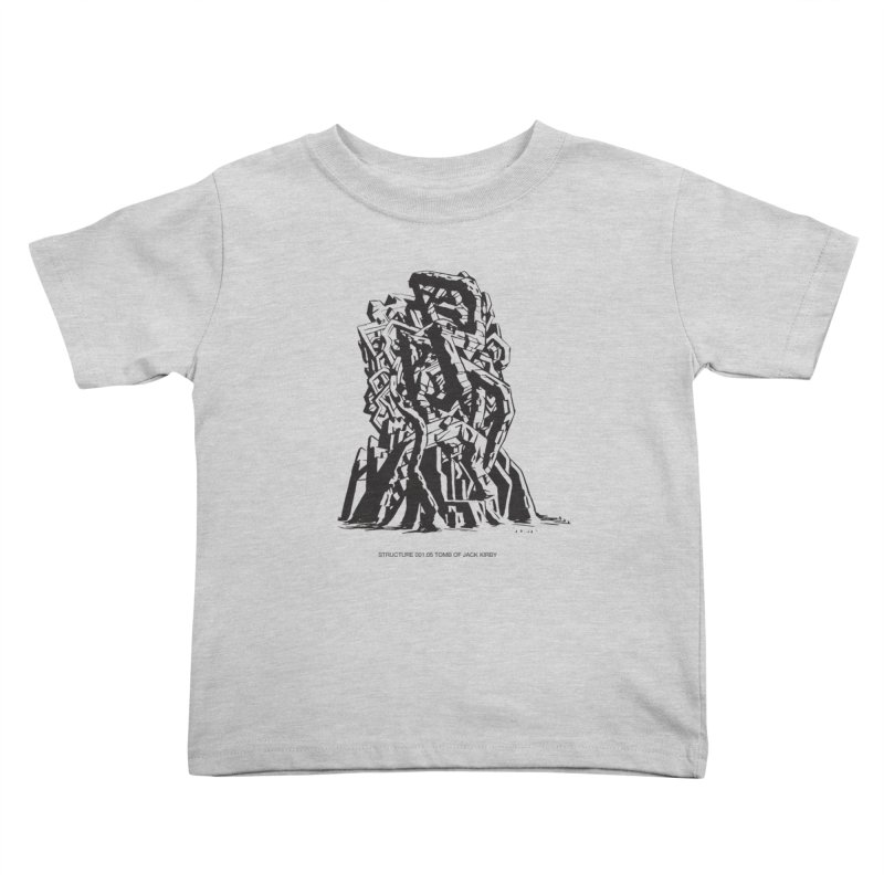THE TOMB OF JACK KIRBY (STRUCTURE SERIES, TOM KACZYNSKI blk) Kids Toddler T-Shirt by Uncivilized Books Merch Shop