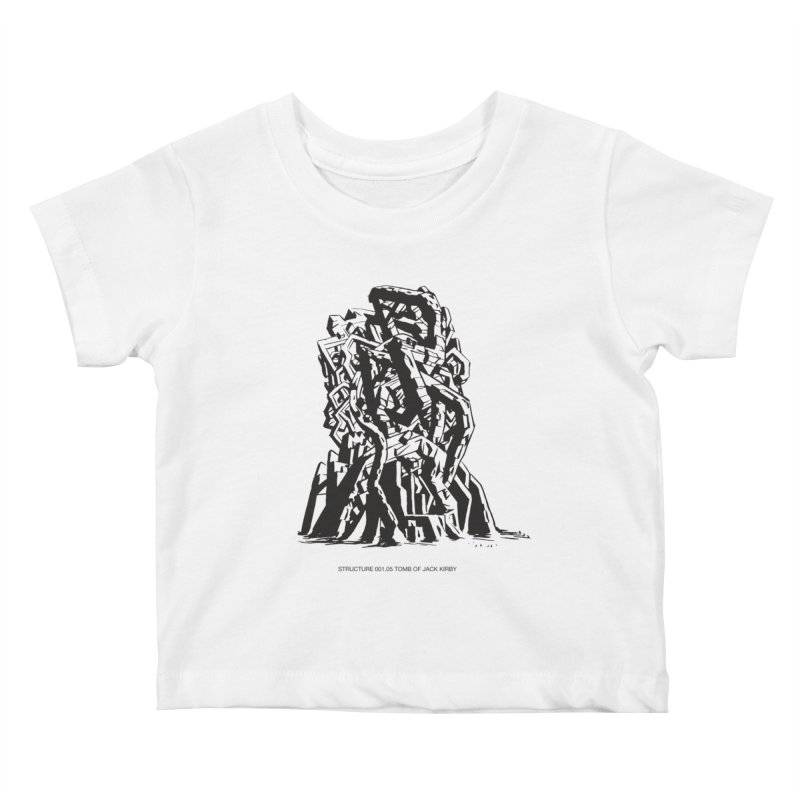 THE TOMB OF JACK KIRBY (STRUCTURE SERIES, TOM KACZYNSKI blk) Kids Baby T-Shirt by Uncivilized Books Merch Shop