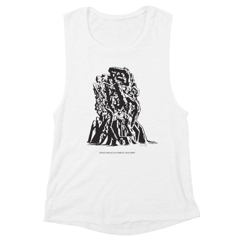 THE TOMB OF JACK KIRBY (STRUCTURE SERIES, TOM KACZYNSKI blk) Women's Muscle Tank by Uncivilized Books Merch Shop