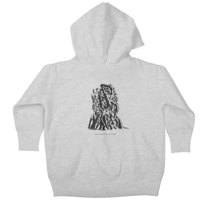 THE TOMB OF JACK KIRBY (STRUCTURE SERIES, TOM KACZYNSKI blk) Kids Baby Zip-Up Hoody by Uncivilized Books Merch Shop