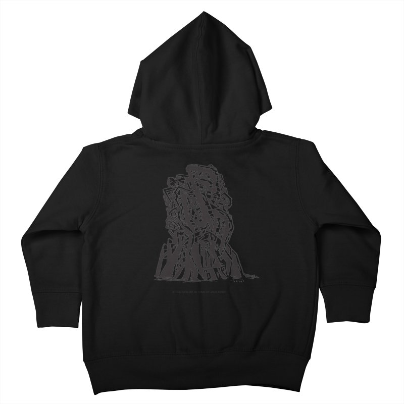 THE TOMB OF JACK KIRBY (STRUCTURE SERIES, TOM KACZYNSKI blk) Kids Toddler Zip-Up Hoody by Uncivilized Books Merch Shop