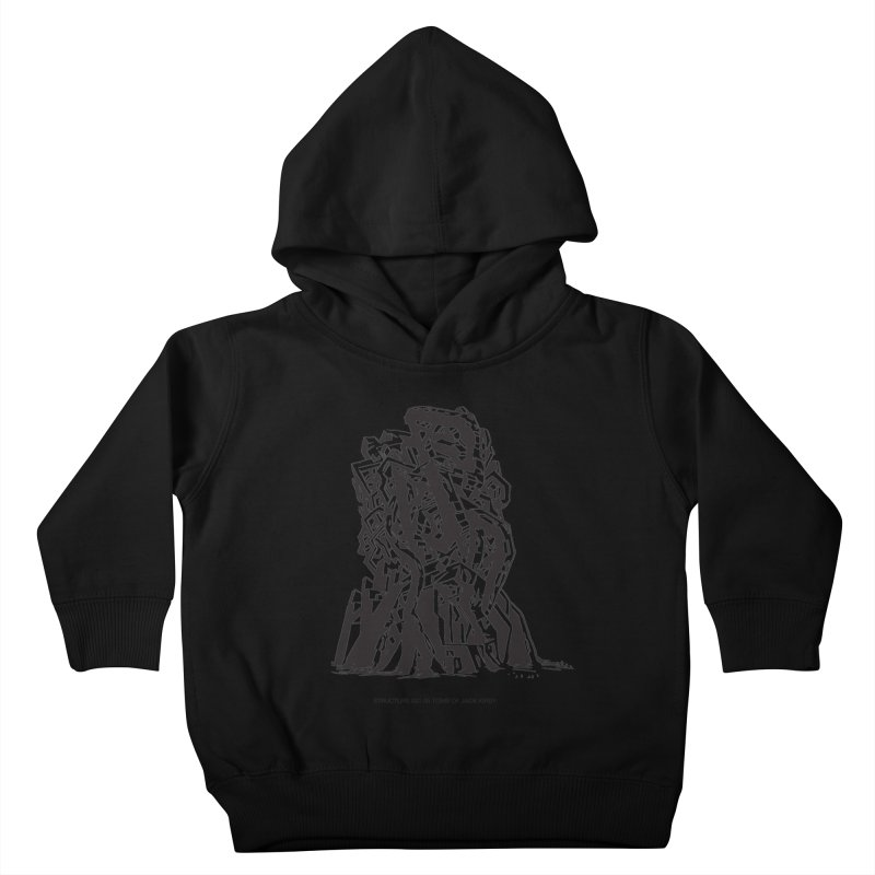 THE TOMB OF JACK KIRBY (STRUCTURE SERIES, TOM KACZYNSKI blk) Kids Toddler Pullover Hoody by Uncivilized Books Merch Shop
