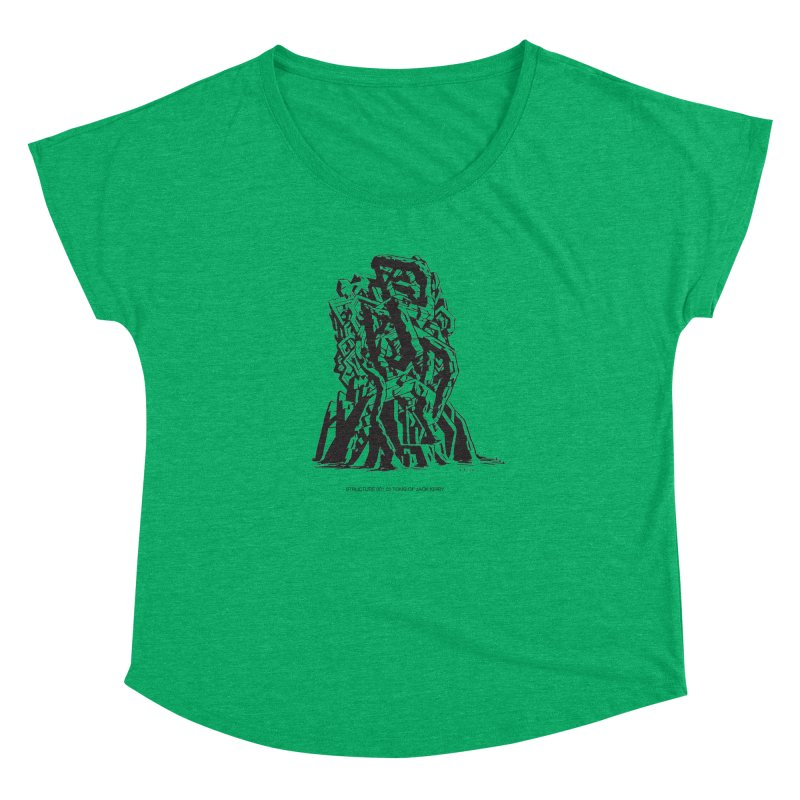 THE TOMB OF JACK KIRBY (STRUCTURE SERIES, TOM KACZYNSKI blk) Women's Dolman Scoop Neck by Uncivilized Books Merch Shop