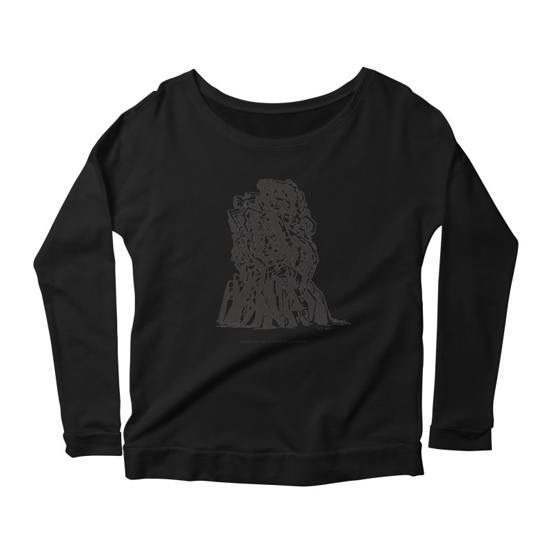 THE TOMB OF JACK KIRBY (STRUCTURE SERIES, TOM KACZYNSKI blk) Women's Scoop Neck Longsleeve T-Shirt by Uncivilized Books Merch Shop