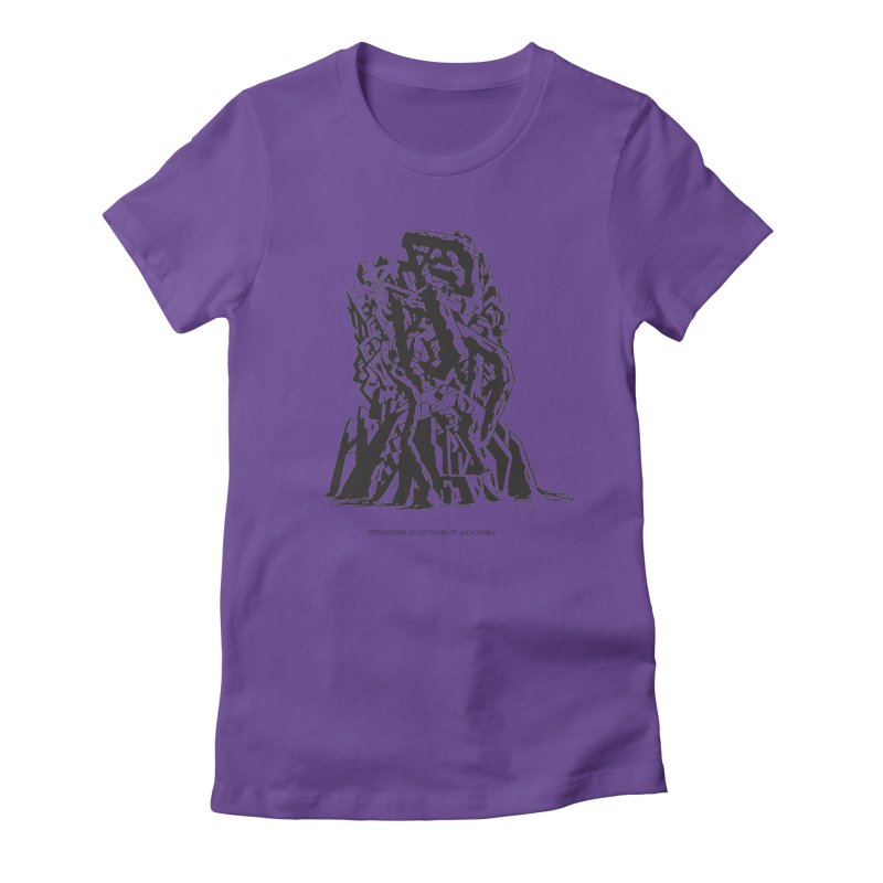 THE TOMB OF JACK KIRBY (STRUCTURE SERIES, TOM KACZYNSKI blk) Women's Fitted T-Shirt by Uncivilized Books Merch Shop