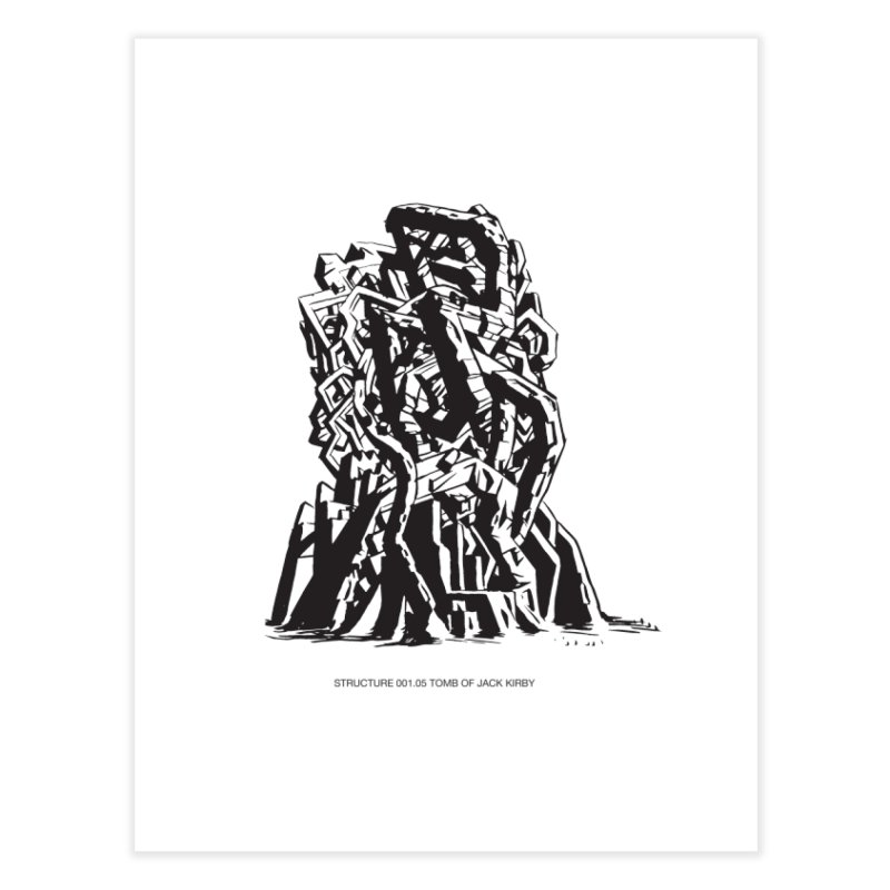 THE TOMB OF JACK KIRBY (STRUCTURE SERIES, TOM KACZYNSKI blk) Home Fine Art Print by Uncivilized Books Merch Shop