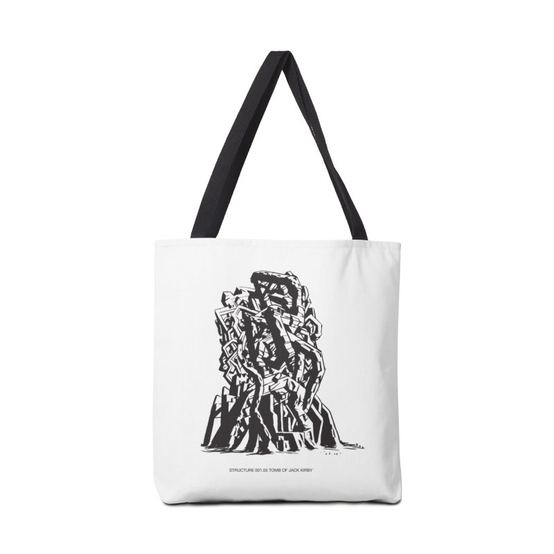 THE TOMB OF JACK KIRBY (STRUCTURE SERIES, TOM KACZYNSKI blk) Accessories Tote Bag Bag by Uncivilized Books Merch Shop