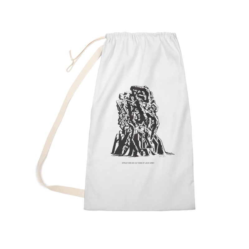 THE TOMB OF JACK KIRBY (STRUCTURE SERIES, TOM KACZYNSKI blk) Accessories Laundry Bag Bag by Uncivilized Books Merch Shop