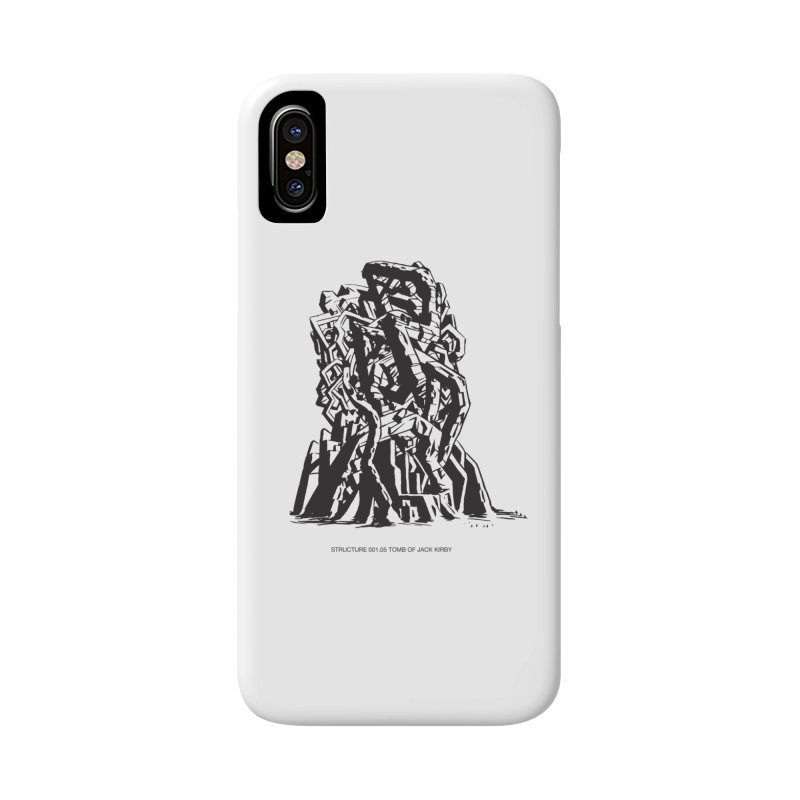THE TOMB OF JACK KIRBY (STRUCTURE SERIES, TOM KACZYNSKI blk) Accessories Phone Case by Uncivilized Books Merch Shop
