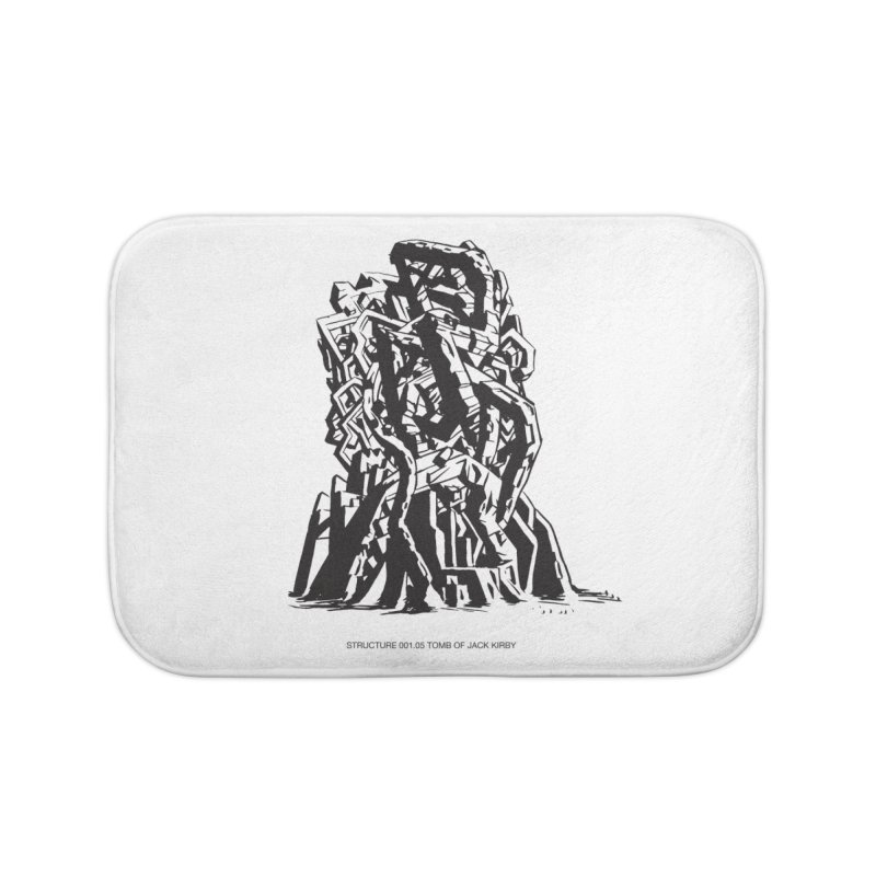 THE TOMB OF JACK KIRBY (STRUCTURE SERIES, TOM KACZYNSKI blk) Home Bath Mat by Uncivilized Books Merch Shop