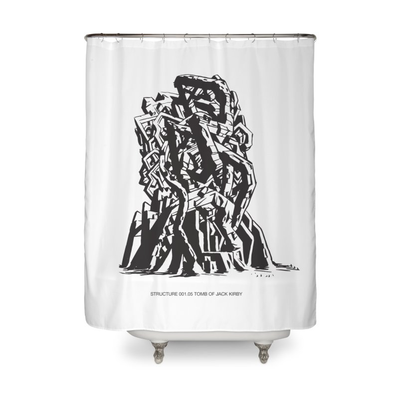 THE TOMB OF JACK KIRBY (STRUCTURE SERIES, TOM KACZYNSKI blk) Home Shower Curtain by Uncivilized Books Merch Shop