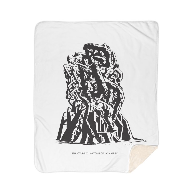 THE TOMB OF JACK KIRBY (STRUCTURE SERIES, TOM KACZYNSKI blk) Home Sherpa Blanket Blanket by Uncivilized Books Merch Shop