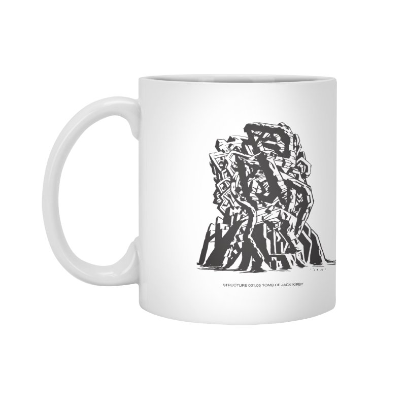 THE TOMB OF JACK KIRBY (STRUCTURE SERIES, TOM KACZYNSKI blk) Accessories Mug by Uncivilized Books Merch Shop