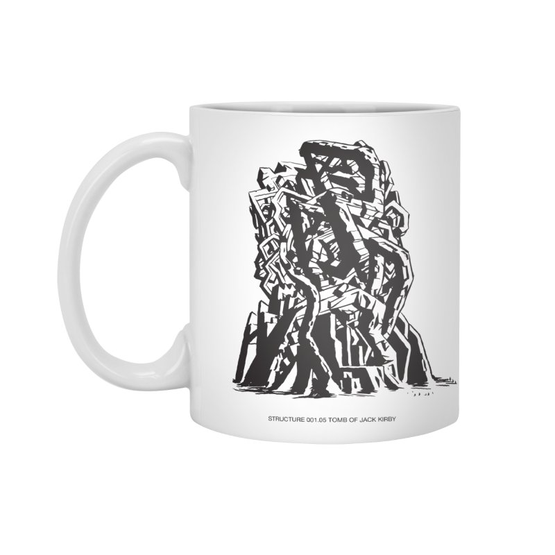 THE TOMB OF JACK KIRBY (STRUCTURE SERIES, TOM KACZYNSKI blk) Accessories Standard Mug by Uncivilized Books Merch Shop