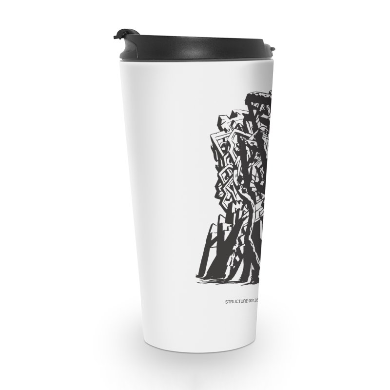 THE TOMB OF JACK KIRBY (STRUCTURE SERIES, TOM KACZYNSKI blk) Accessories Travel Mug by Uncivilized Books Merch Shop
