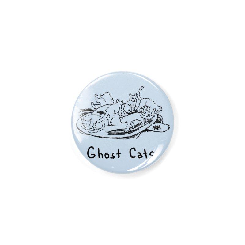 Ghost Cats (Gabrielle Bell, blk) Accessories Button by Uncivilized Books Merch Shop