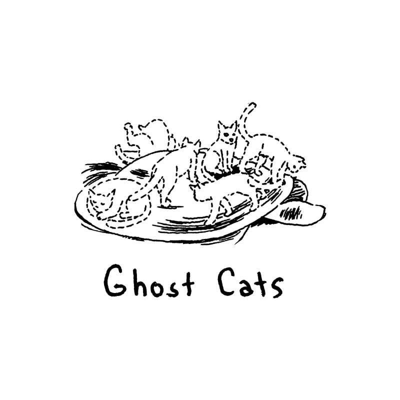 Ghost Cats (Gabrielle Bell, blk) Accessories Beach Towel by Uncivilized Books Merch Shop