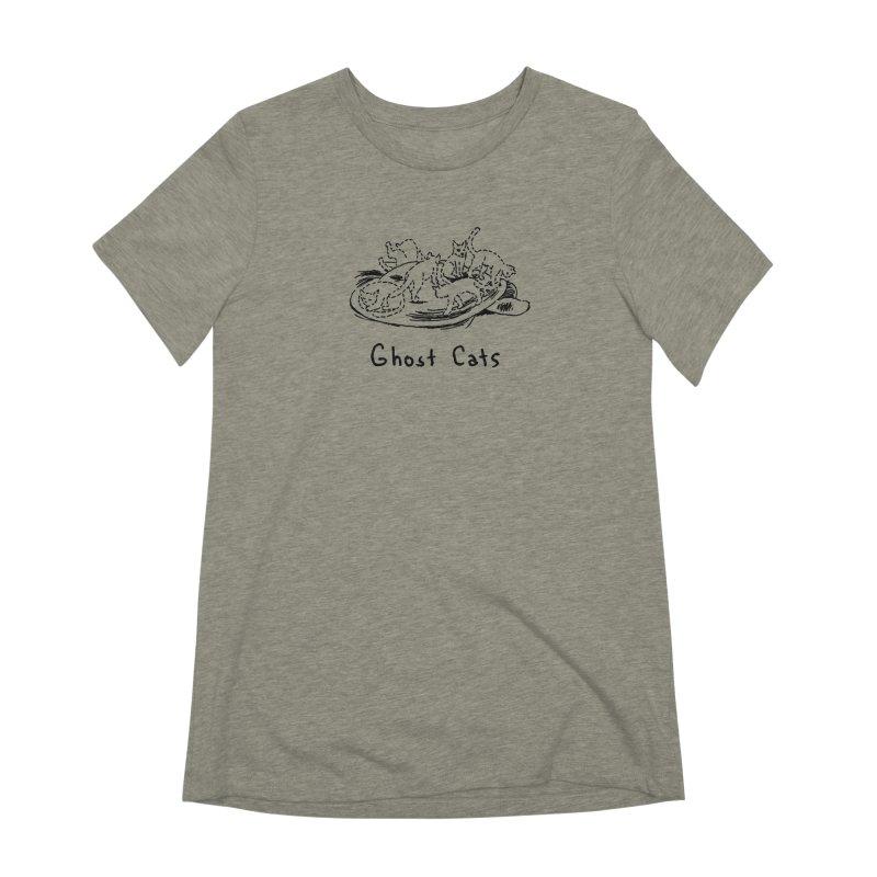 Ghost Cats (Gabrielle Bell, blk) Women's Extra Soft T-Shirt by Uncivilized Books Merch Shop