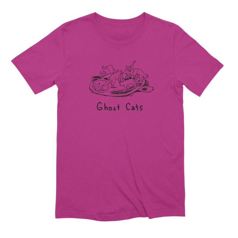Ghost Cats (Gabrielle Bell, blk) Men's T-Shirt by Uncivilized Books Merch Shop