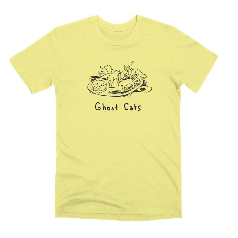 Ghost Cats (Gabrielle Bell, blk) Men's Premium T-Shirt by Uncivilized Books Merch Shop