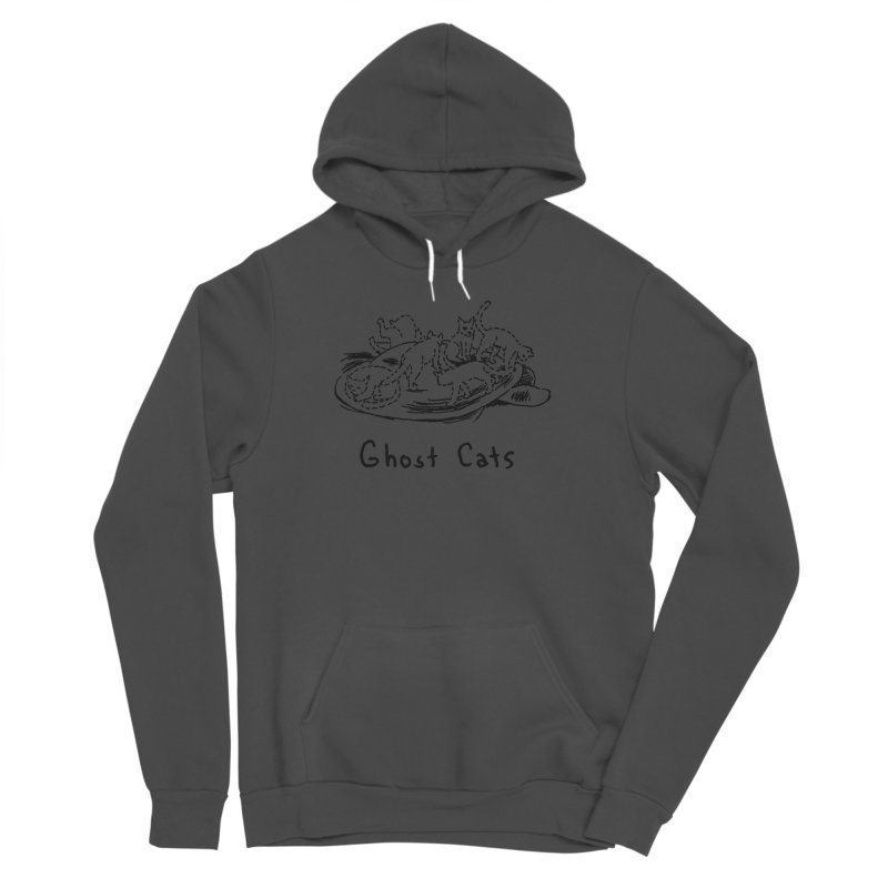 Ghost Cats (Gabrielle Bell, blk) Women's Sponge Fleece Pullover Hoody by Uncivilized Books Merch Shop