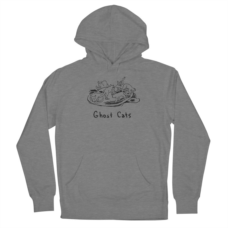 Ghost Cats (Gabrielle Bell, blk) Women's French Terry Pullover Hoody by Uncivilized Books Merch Shop