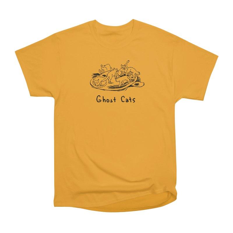 Ghost Cats (Gabrielle Bell, blk) Women's Heavyweight Unisex T-Shirt by Uncivilized Books Merch Shop